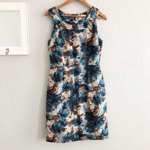 Kate Spade Silk Floral Marine Garden Minnie Dress